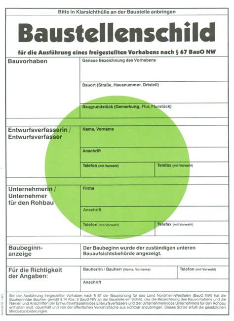 Bauschild Berlin Vorlage by Die Baugenehmigung Ist Erteilt Hausbau