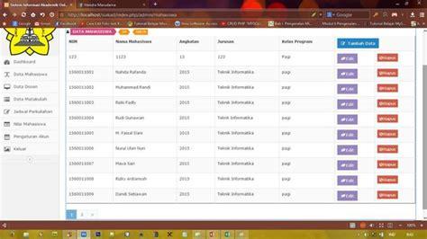 tutorial codeigniter sistem informasi akademik part 4 membangun sistem informasi akademik dengan codeigniter dan