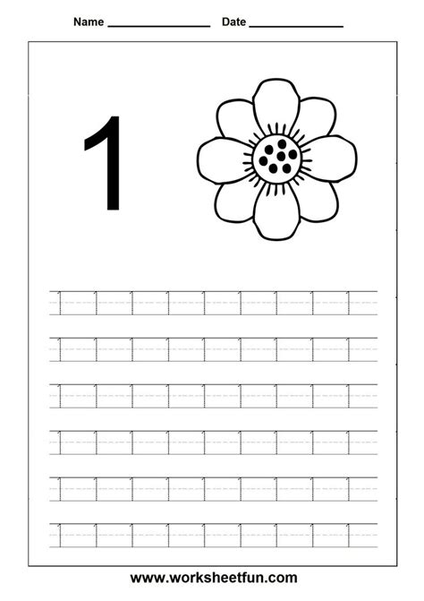Number Worksheets For Preschool by Printable Number Tracing Worksheets For Kindergarten 1st