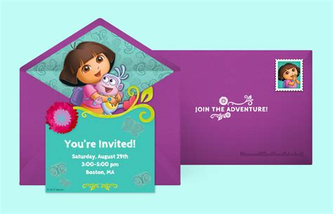 printable invitations dora the explorer free dora invitations dora the explorer online