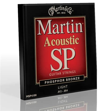 Guitar Strings Acoustic Light Premium Phosphor Msp4100 Ebay Martin Sp Light Strings