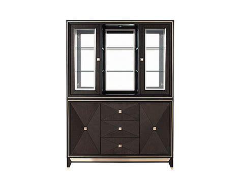 raymour and flanigan china cabinet callister 2 pc china cabinet w lighting chocolate