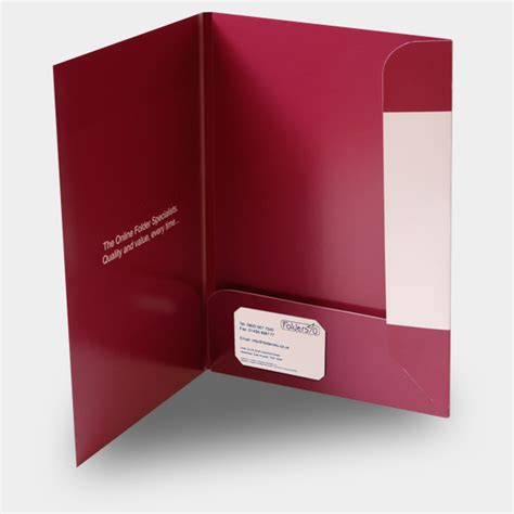 a4 folder template with business card slot a4 5mm capacity interlocking folder with business card slots