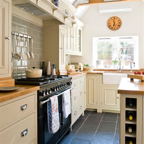cream and black kitchen ideas range cooker splashbacks kitchen sourcebook