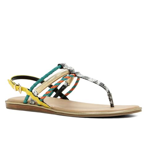Sale Aldo Flip On Sandals Ori aldo t sandals in multicolor bone lyst