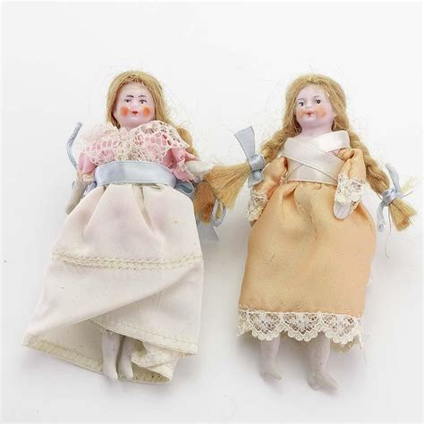antique bisque dollhouse doll pair of antique bisque dollhouse dolls from vininghill on