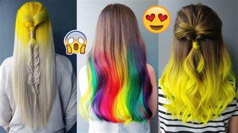 amazing hair colors amazing hair color transformations rainbow hair