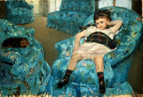little girl in the blue armchair children in art mary casatt quot little girl in blue armchair quot
