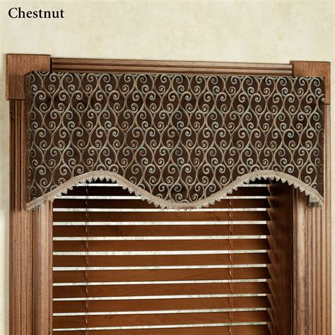 Shaped Valances For Windows twine m shaped scalloped window valance