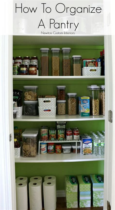How To Organize Your Pantry by How To Organize A Pantry Newton Custom Interiors