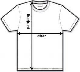 Ukuran Kaos tips mengukur baju kaos untuk anak kaos family