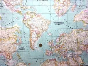 Fabric World Map by World Map Printed In Mint Heavy Weight Vilber Linen