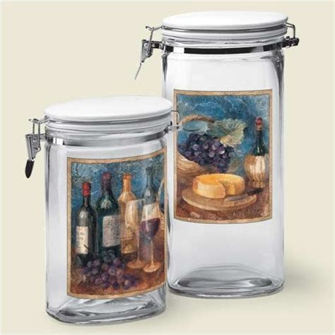 wine kitchen canisters 174 best images about chef winery kitchen decor on wine bottle holders vineyard