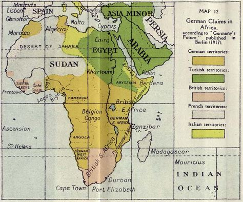 world war 1 africa map nationmaster maps of germany 83 in total