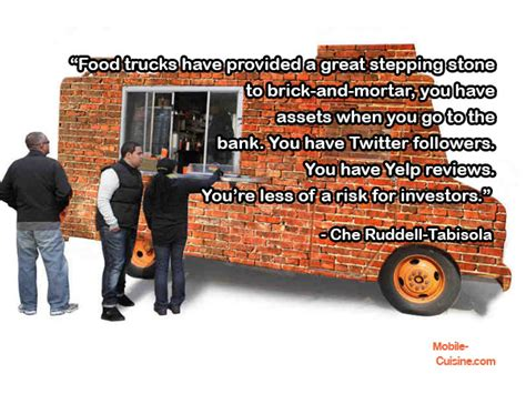 cuisine ch黎re che ruddell tabisola food truck growth quote