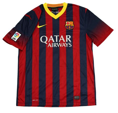 barcelona qatar airways jersey lot detail lionel messi signed fc barcelona soccer jersey