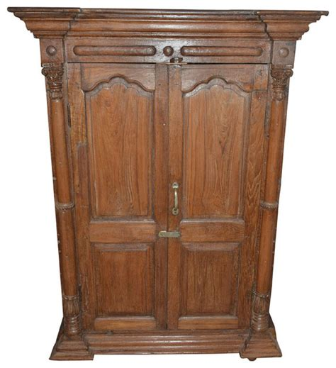 distressed armoires consigned antique rustic cabinet distressed doors wardrobe storage traditional