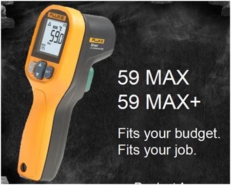 Fluke 59 Max Thermometer Infrared christensen tools south africa gt fluke meters gt fluke lite gt 59 max 59 max infrared thermometers