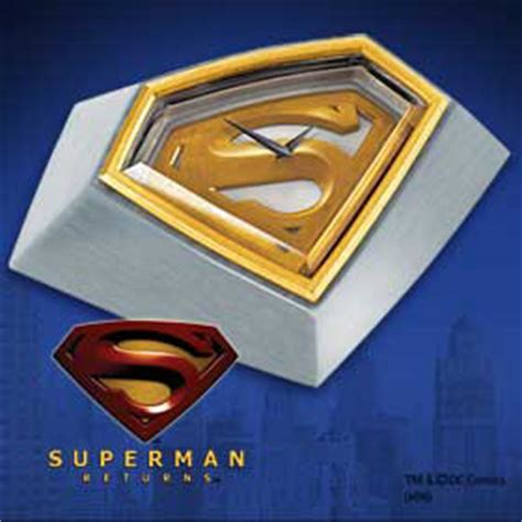 Superman Desk Accessories by Superman Returns Desk Clock Planetkrypton Net