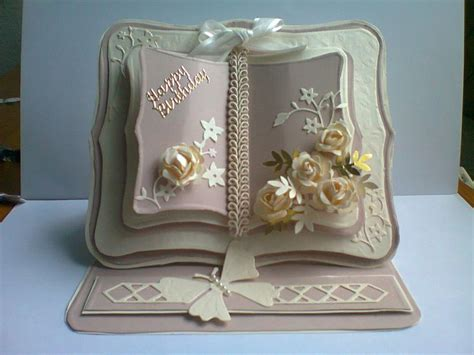 open book easel card template quot happy birthday quot book card site photo only cards