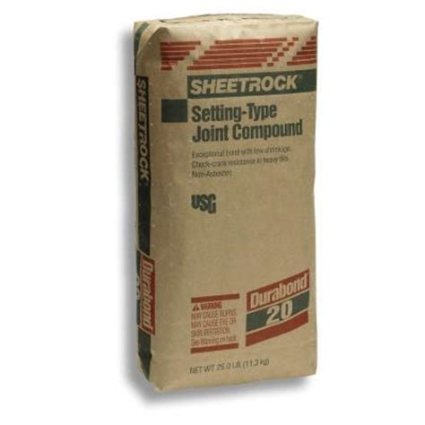 sheetrock brand 25 lb durabond 20 setting type joint