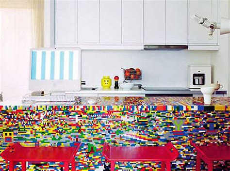 lego kitchen island munchausen s amazing lego kitchen is made from thousands