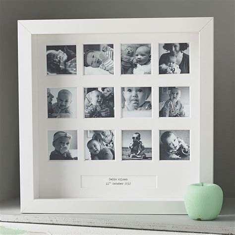 design my photo frame personalised my first year square frame by posh totty