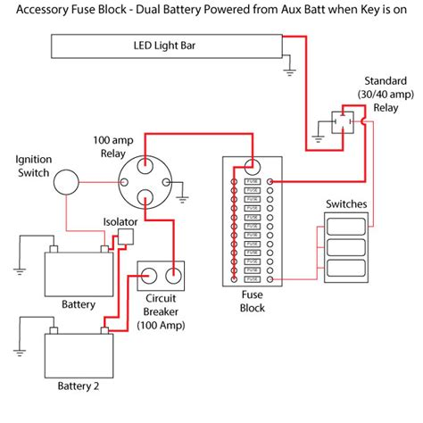 battery hook up dual switch circuit diagram for battery