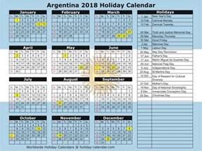 Argentina Calendã 2018 Argentina 2017 2018 Calendar