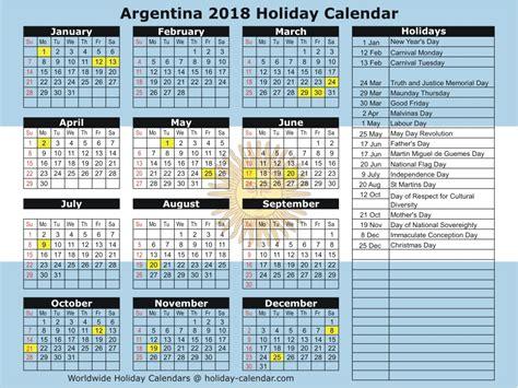 Argentina Calend 2018 Argentina 2018 2019 Calendar