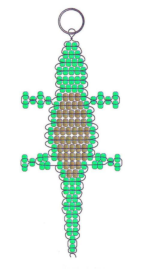 alligator bead pattern beaded alligator key chain