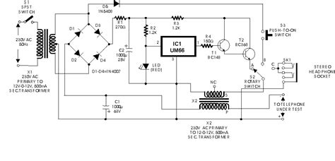 line telephone tester circuit diagram circuit and