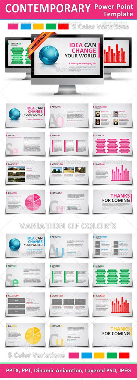 contemporary power point template graphicriver
