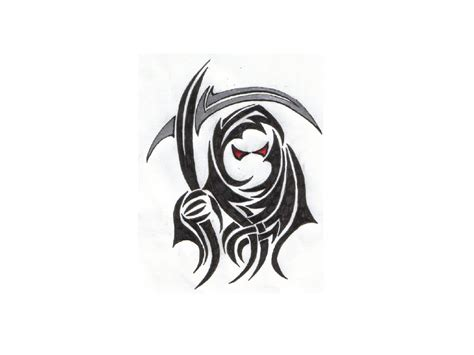 tribal grim reaper tattoo designs tribal grim reaper designs clipart best