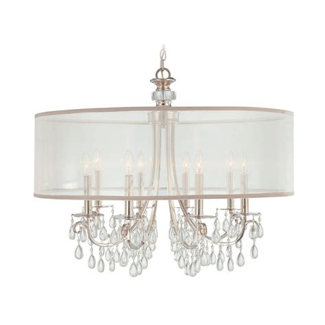 Shaded Chandelier And Chandelier With White Shade In Polished Chrome