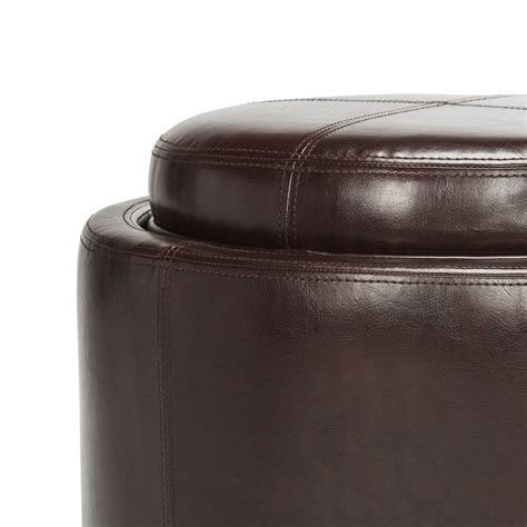 safavieh hudson leather chelsea tray ottoman www bedbathandbeyond hud8232c ottomans furniture by safavieh