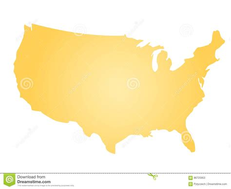america vector map with states yellow radial gradient silhouette map of united states of
