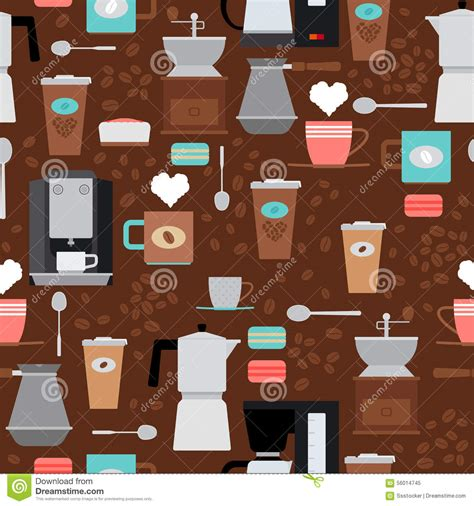 svg background pattern generator coffee shop seamless pattern stock vector image 56014745
