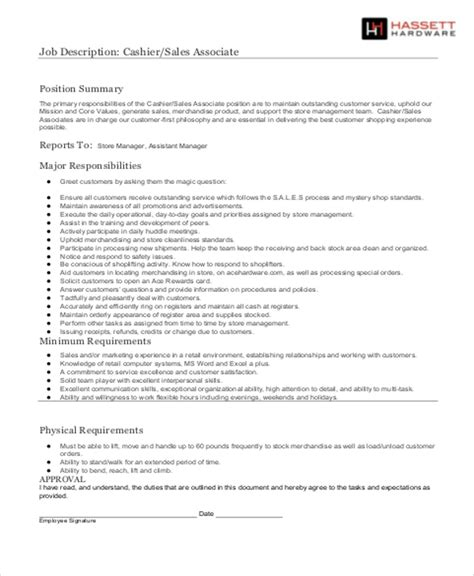 stock associate job description sle 4 exles in