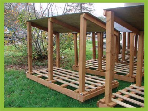 diy firewood storage ideas seasoning outdoor sheds