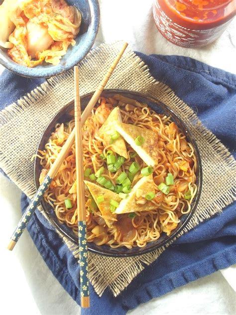 Ramen Kimchi Go stir fried kimchi ramen connoisseurus veg