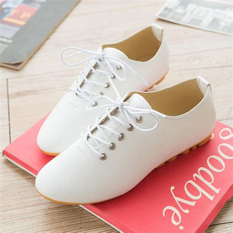 cheap white flats shoes 2015 shoes leather black white flats zapatos mujer