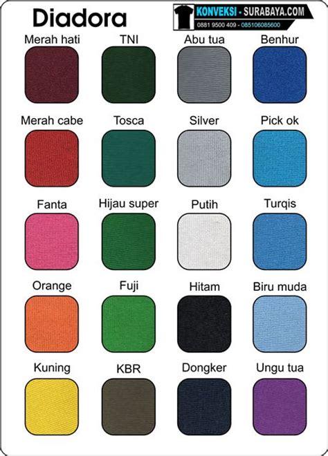 Kaos Cotton Combed Diadora by Katalog Warna Kain