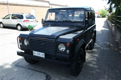 land rover defender matte black 1991 land rover defender 90 matt black