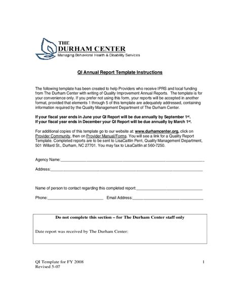 2018 Annual Report Template Fillable Printable Pdf Forms Handypdf One Page Annual Report Template