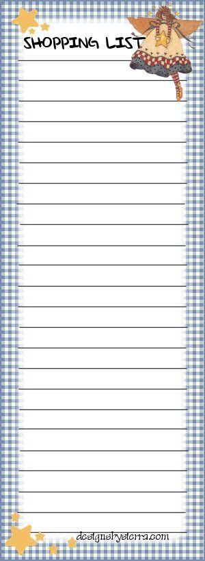 free printable grocery list paper 17 best images about diy shopping to do list on