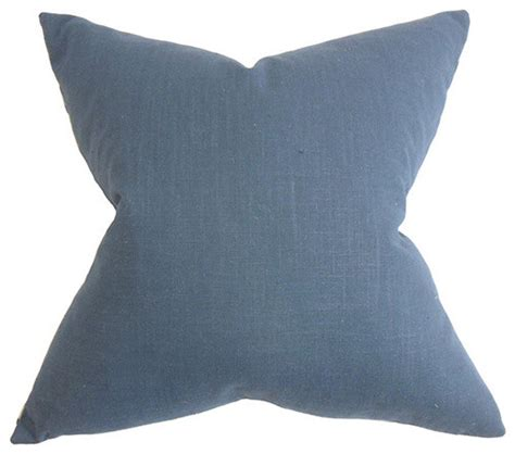 ninian blue 18 x 18 solid throw pillow traditional bed