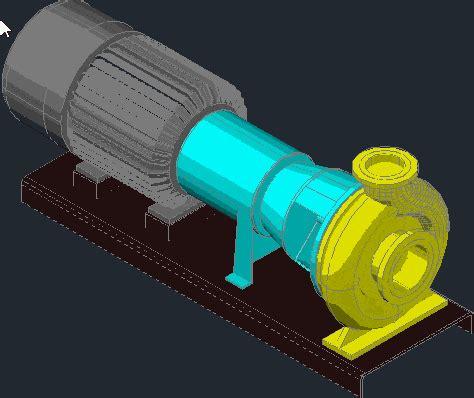horizontal centrifugal pump dwg block  autocad