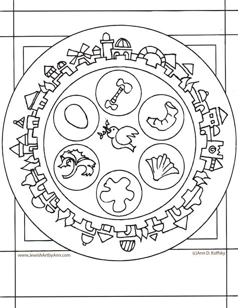 coloring pages passover print passover printable coloring pages