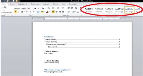 Create Table Of Contents In Word 2013 by How To Create A Table Of Contents In Microsoft Word 2010